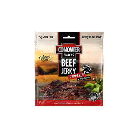 Conower Beef Jerky Peppered 25g.