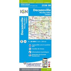 Carte de randonnée TOP 25 2338SB - Decazeville/Marcillac-Vallon/Conques