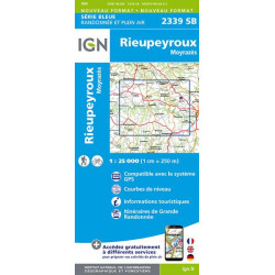 Carte de randonnée TOP 25 2339SB - Rieupeyroux / Moyrazès