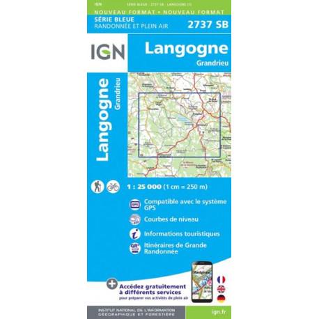 Carte de randonnée TOP 25-2737SB Langogne / Grandrieu