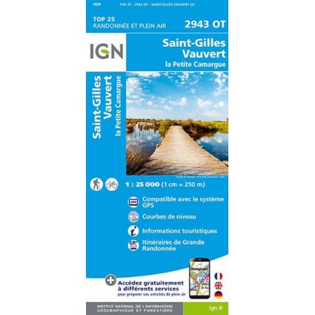 Carte de randonnée TOP 25-2943OT - Saint-Gilles / Vauvert / la Petite Camargue