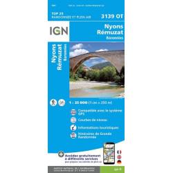 Carte de randonnée TOP 25-3139OT - Nyons / Remuzat / Baronnies