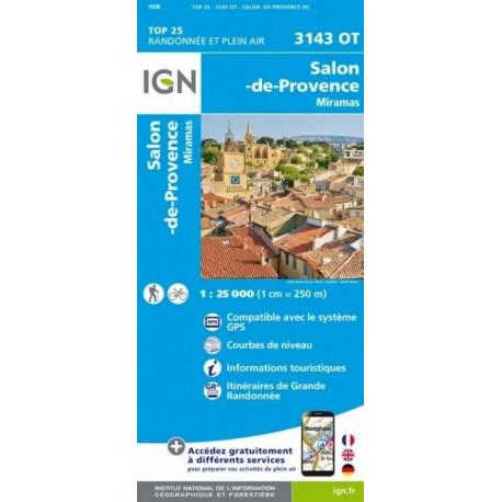 Carte de randonnée TOP 25-3143OT - Salon-de-Provence / Miramas