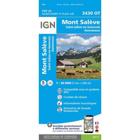 Carte de randonnée TOP 25-3430OT - Mont-Saleve/Saint-Julien-En-Genevois/Annemasse