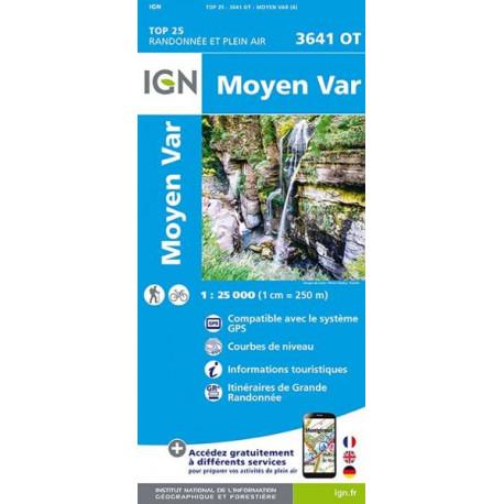 Carte de randonnée TOP 25-3641OT - Moyen Var