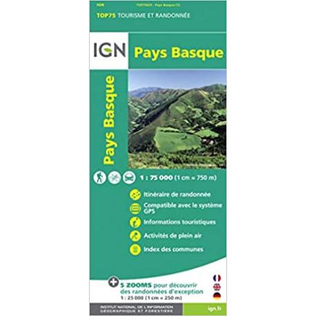 Carte IGN TOP 75 Pays Basque
