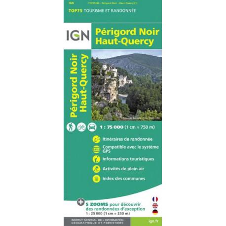 Carte IGN TOP 75 Périgord noir / Haut-Quercy