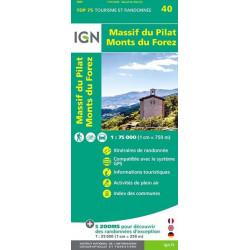 Carte IGN TOP 75 Massif du Pilat / Monts du Forez