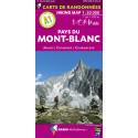Carte de randonnées Alpes  A1 - Pays du Mont-Blanc 1/50.000