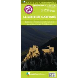 CARTE DE RANDONNEE PYRENEES N°09 Le Sentier Cathare 1/55 000