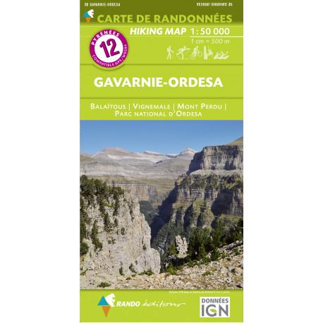 CARTE DE RANDONNEE PYRENEES N°12 Gavarnie - Ordesa 1/50 000