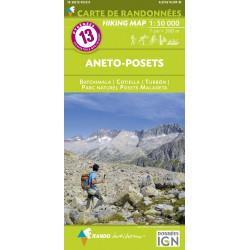 CARTE DE RANDONNEE PYRENEES N°13 Aneto - Posets 1/50 000