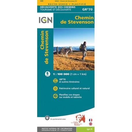 Carte IGN - Chemin de Stevenson - GR70 ® 1/ 100 000