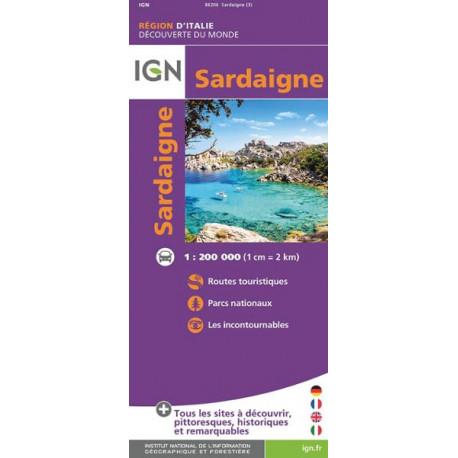 Carte IGN - Sardaigne 1/200 000