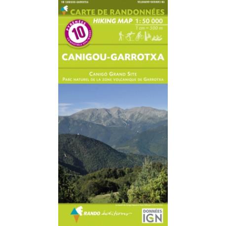 CARTE DE RANDONNEE PYRENEES N°10 Canigou- Garrotxa