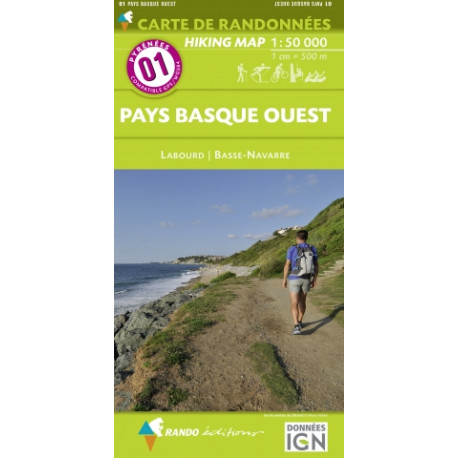 CARTE PYRENEES N°1 PAYS BASQUE OUEST