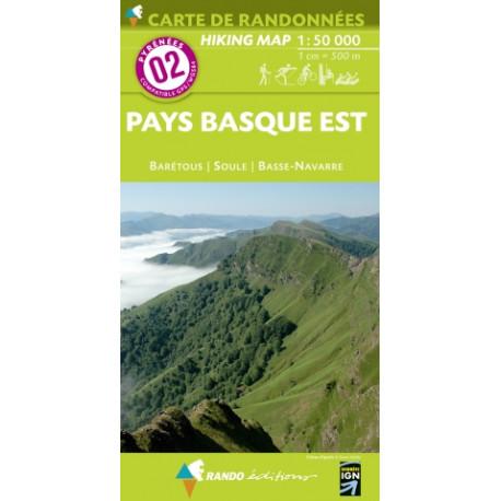CARTE PYRENEES N°2 PAYS BASQUE EST
