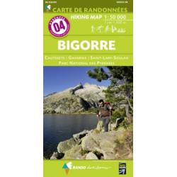 CARTE DE RANDONNEE PYRENEES N°4 BIGORRE Cauterets Gavarnie PN des Pyrénées