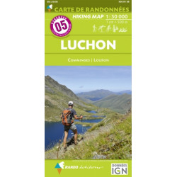CARTE DE RANDONNEE PYRENEES N°5 LUCHON Comminges Louron