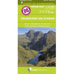 CARTE DE RANDONNEE PYRENEES N°6 COUSERANS Valier Maubermé