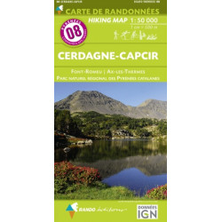 CARTE DE RANDONNEE PYRENEES N°8 CERDAGNE-CAPCIR Font-Romeu Ax-les-Thermes