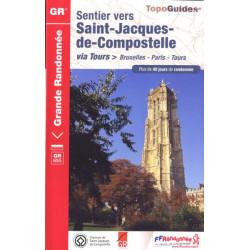 FFRP- 6551 Sentier vers Saint-Jacques-de-Compostelle Via Tours