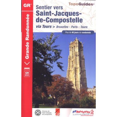 FFRP- 6551 Sentier vers Saint-Jacques-de-Compostelle Via Bruxelles-Paris-Tours