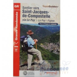 FFRP Sentier vers Saint-jacques-de-Compostelle via le Puy - 651 - Le Puy-Figeac GR65