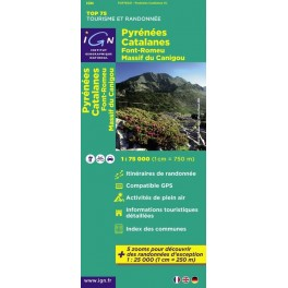 Carte IGN TOP 75 Pyrénées Catalanes