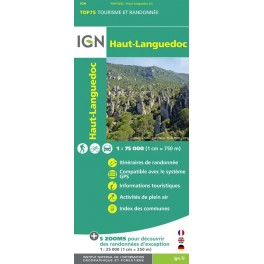 Carte IGN TOP 75 Haut Languedoc