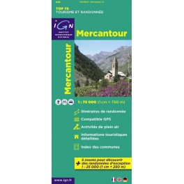 Carte IGN TOP 75 Mercantour
