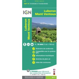Carte IGN TOP 75 Luberon Mont Ventoux