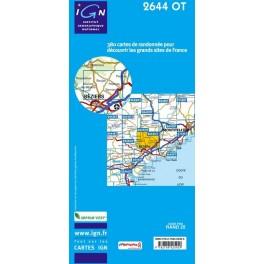 Carte de randonnéeTOP25 IGN2644OT PEZENAS