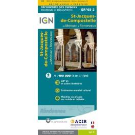 IGN St Jacques de Compostelle de Moissac à Roncevaux