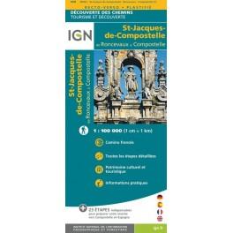 IGN St Jacques de Compostelle de Roncevaux à Compostelle