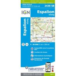 Carte de randonnée Estaing Espalion