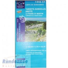 Carte de randonnée TOP25 IGN 1446ET TARDETS-SORHOLUS ARETTE