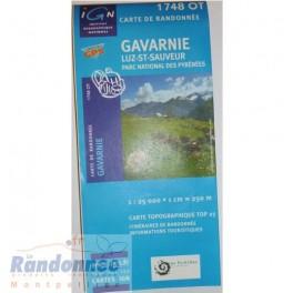 Carte de randonnée TOP25 IGN 1748OT GAVARNIE Parc National des Pyrénées