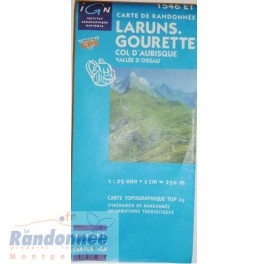Carte de randonnée TOP25 IGN 1546ET LARUNS.GOURETTE Col d'Aubisque