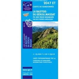 Carte de randonnée TOP 25 IGN 2047ET la Bastide de Sérou