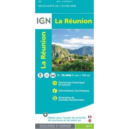 Carte IGN Top 75 La Réunion