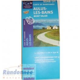 Carte de randonnée TOP25 IGN 2048OT AULUS LES BAINS Mont Valier