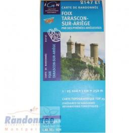 Carte de randonnée TOP25 IGN 2147ET FOIX TARASCON SUR ARIEGE