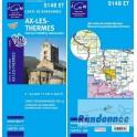 Carte de randonnée TOP25 IGN 2148ET AX LES THERMES PNR des Pyréénées Ariégeoise