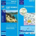Carte de randonnée TOP25 IGN 2249ET FONT-ROMEU Capcir