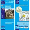 Carte de randonnée TOP25 IGN 2347OT QUILLAN Alet-les-bains