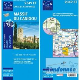 Carte de randonnée TOP25 IGN 2349ET MASSIF DU CANIGOU
