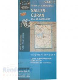 Carte de randonnée SERIE BLEUE IGN 2440SB SALLES CURAN