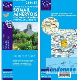 Carte de randonnée TOP25 IGN 2444ET ST-PONS-DE-THOMMIRES