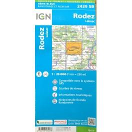 Carte IGN 2439SB RODEZ LAISSAC